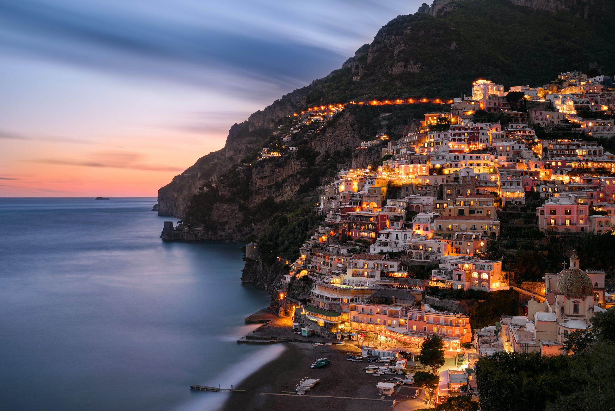 Positano charming city on Amalfi coast