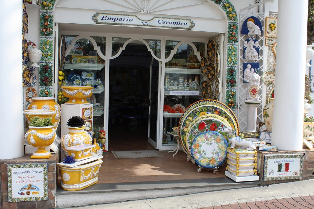 Ceramics shop in Positano