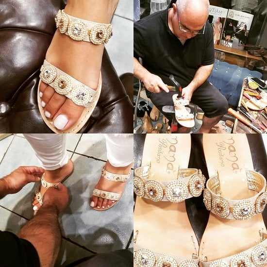 Custom made sandals Positano