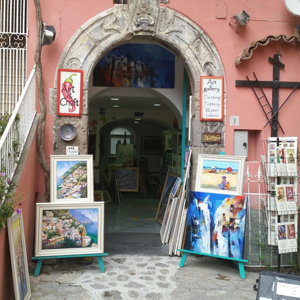 Positano art galleries