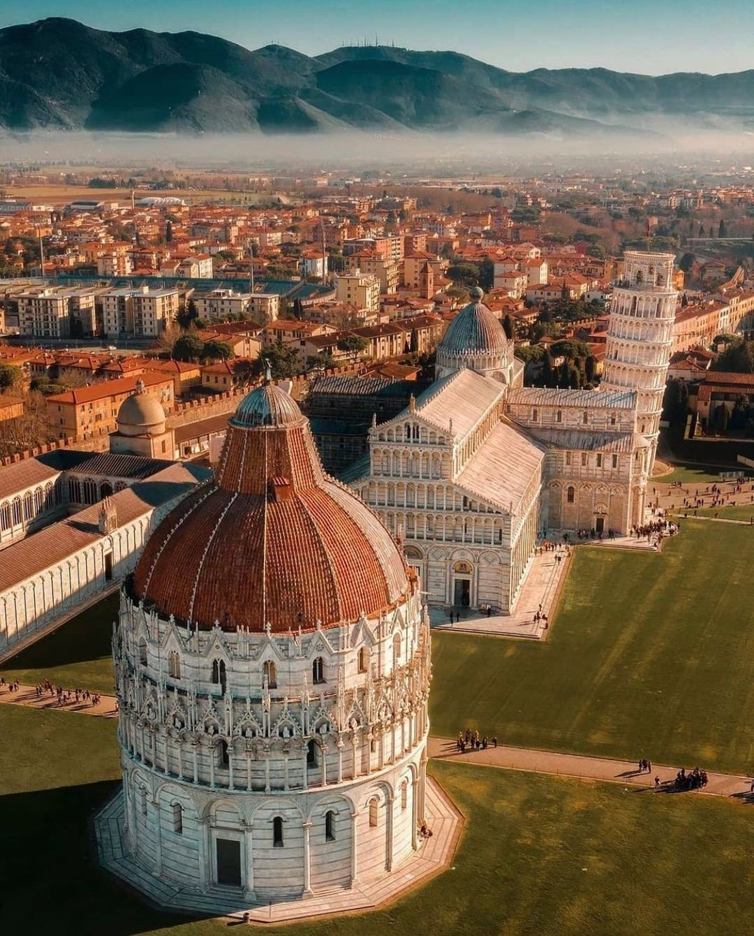 Pisa view from above